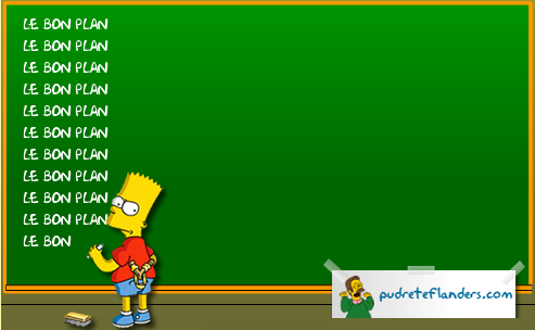 tableau de punition Bart Simpson