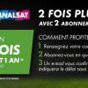Canal + et CanalSat pour 25/mois durant 1 an