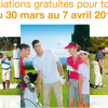 Invitations gratuites pour jouer au golf