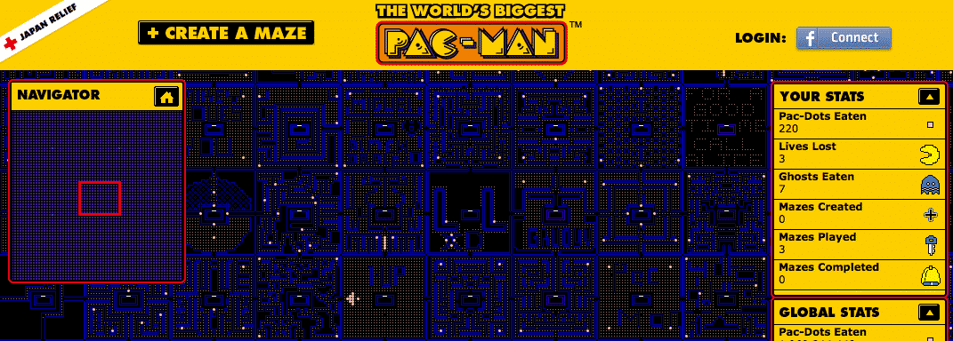 le plus grand jeu pac man du monde