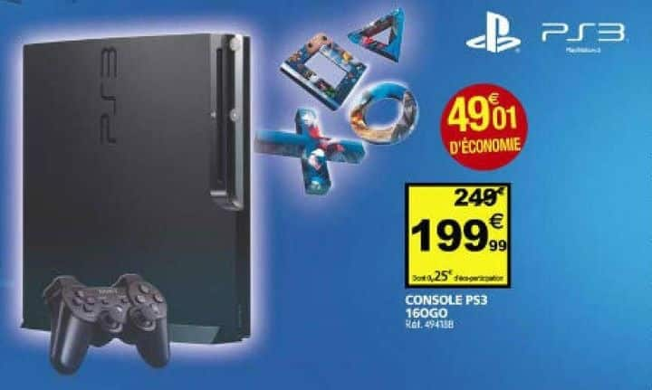Playstation 3 à 199 € à Auchan