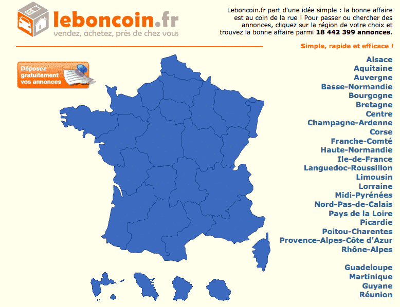 Le site du bon coin est en maintenance technique