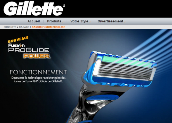 Le Gillette Pro Glide Power offert gratuitement