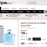 Le parfum Azzaro Chrome (100ml) à 23,94 €