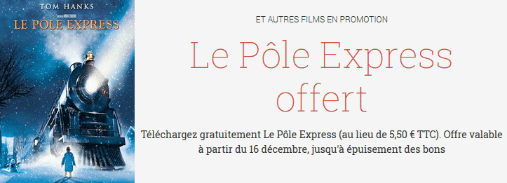 Le film Pole Express gratuit sur Google Play