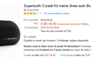 Le kit main libre bluetooth Crystal pour voiture à -42%