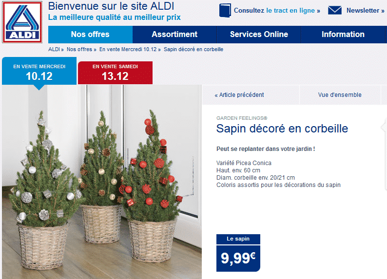 les bons plans et promotions pour acheter son sapin de no l le bon plan. Black Bedroom Furniture Sets. Home Design Ideas