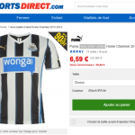 Le maillot Newcastle United à 6,59 €