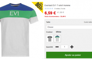 80% de réduction sur une doudoune Lee Copper et un t-shirt Everlast