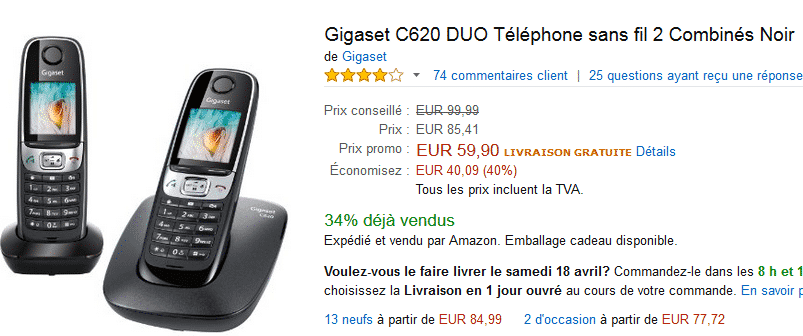 vente-flash-amazon-gigaset-c620-noir