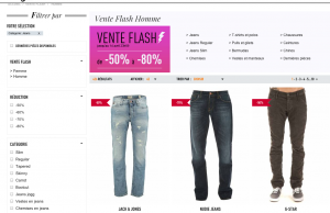 Vente Flash Uncle Jeans : 50 à 80% de réduction sur de grandes marques (Calvin Klein Jeans, Diesel, Armani, G-Star, Guess, Kaporal, Levi's…)