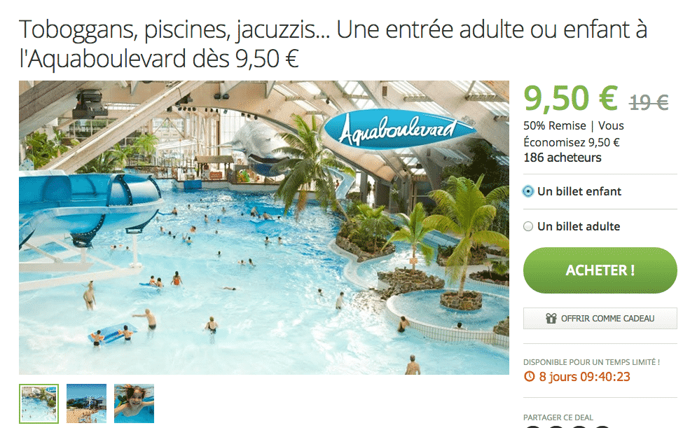Aquaboulevard billet for Aquaboulevard tarif piscine