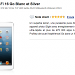 Apple iPad mini Wi-Fi 16 Go Blanc et Silver à 169 €