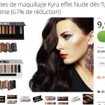 Groupon : palette maquillage Delavente Kyra Nude à 9,99 € (-50%)