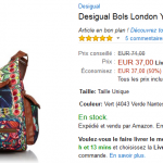 Sac Desigual London Yamileth à 37 € au lieu de 74 € (-50%) sur Amazon