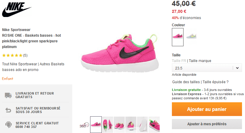 bon-plan-bakset-nike-rose-flashy-enfant-zalando