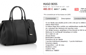 Sac à main Hugo Boss Berlin 30 à 480 € au lieu de 850 € (-40%)