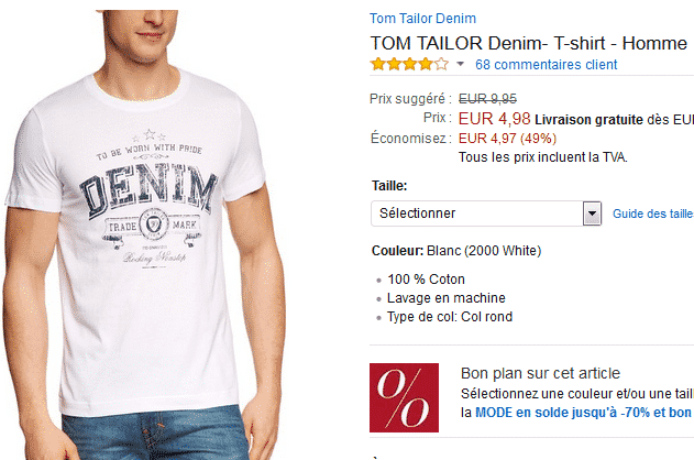bon-plan-tee-shirt-tom-tailor-amazon