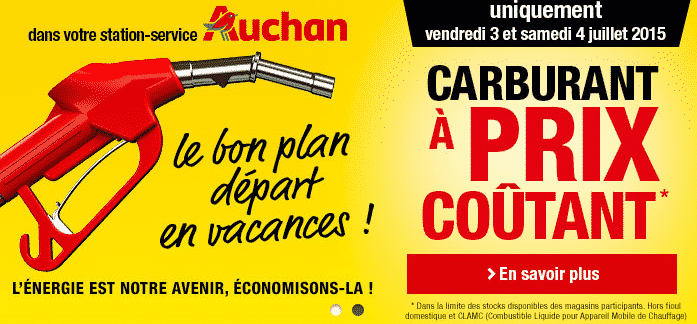carburant prix co tant chez auchan et intermarch. Black Bedroom Furniture Sets. Home Design Ideas