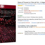 Game of Thrones : l'intégrale des saisons 1 à 4 en Blu-ray à 41,99 € – Premium Day Amazon