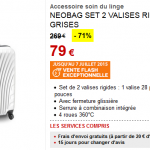 2 valises Neobag à 79 € au lieu de 269 € (-71%) chez Darty