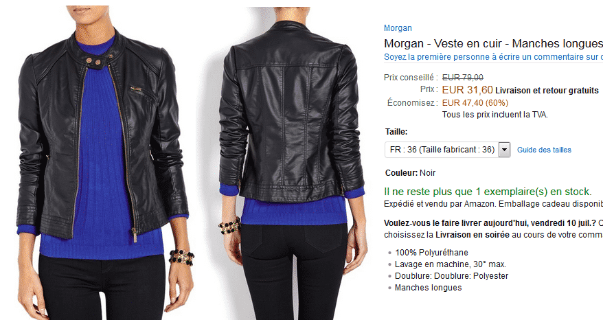 veste-cuir-morgan-solde-amazon