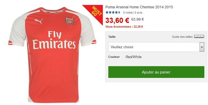 bon-plan-maillot-arsenal-2014-2015
