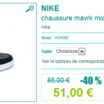 Basket Nike en promotion (-40%)