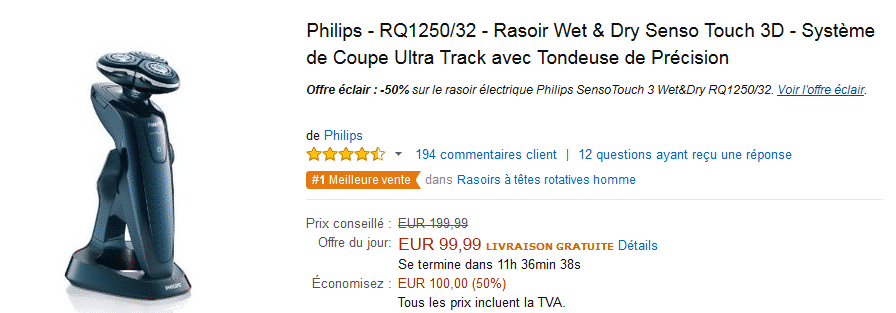 bon-plan-rasoir-electrique-philips-amazon