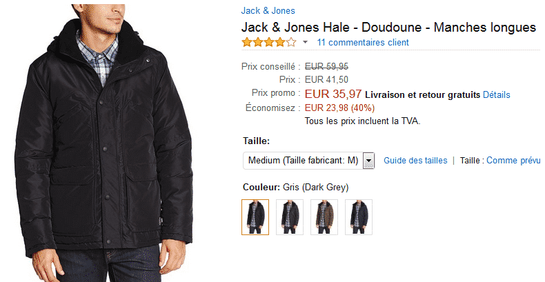 bon-plan-doudoune-jack-and-jone-vente-flash-amazon