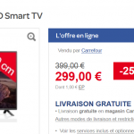 Vente Flash Carrefour : Téléviseur LED LG 32LF5800 Smart TV 80cm à 299 € au lieu de 399 €