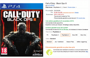 Précommande Call of Duty Black Ops III sur Amazon