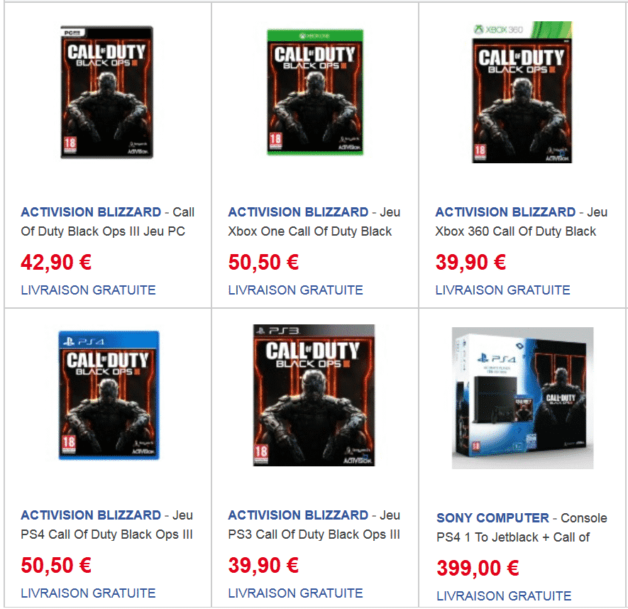 Console Xbox 360 Carrefour: Precommande-call-of-duty-black-ops-3