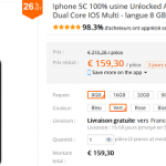 [Black Friday] iPhone 5 à 206 € et iPhone 5C 161 € (reconditionnée )