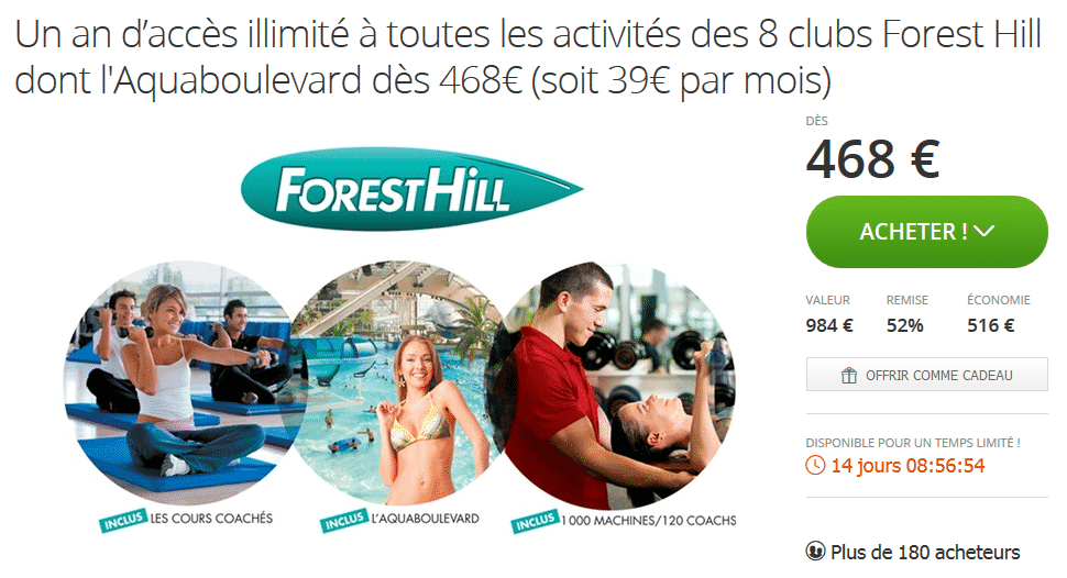 Abonnement forest hill acc s illimit aquaboulevard for Piscine forest hill
