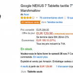 [Black Friday] Tablette tactile Google NEXUS 7 à 129 € au lieu de 299 € (-57%)