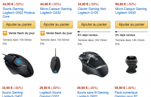 Vente Flash Logitech : souris, claviers, casques à -50%