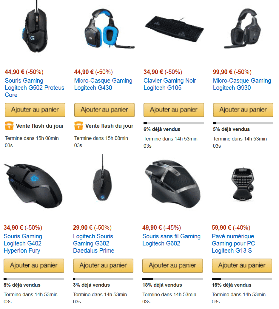 vente-flash-logitech-gaming-sur-amazon