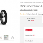 [Black Friday Fnac] Mini drone Parrot Jumping Sumo à 39 € au lieu de 116 €