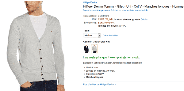gilet-tommy-en-promotion-sur-amazon