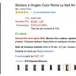 Des stickers à ongles L'Oréal Color Riche Nail Art à partir de 1,32 € (- 86%) !