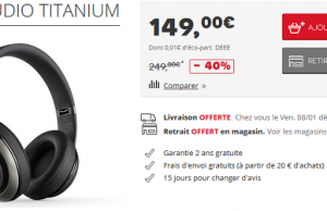Darty : Beats Studio Titanium à 149 € au lieu de 249 €