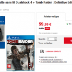 Manette PS4 Dualshock 4 + Tomb Raider : Definitive Edition sur PS4 à 59,99 €