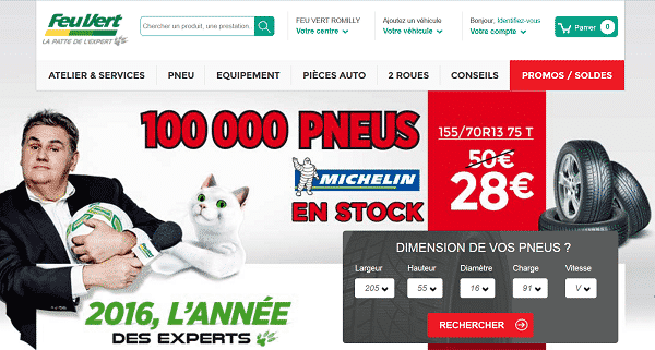 100 000 pneus michelin en promotion chez feu vert. Black Bedroom Furniture Sets. Home Design Ideas