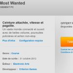 Télécharger gratuitement le jeu Need for Speed Most Wanted (PC)