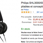 Casque audio Philips SHL3000 en promotion sur Amazon