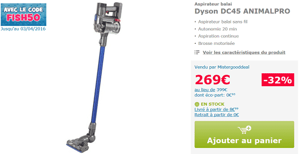 aspirateur dyson dc45 pas cher sur mistergooddeal. Black Bedroom Furniture Sets. Home Design Ideas