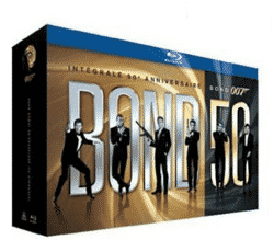 Coffret Blu Ray James Bond 22 films à 49,99 € au lieu de 199 € (-75%)