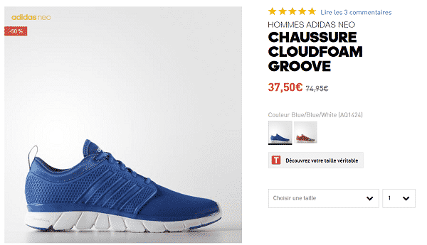 basket-adidas-cloudfoam-en-promotion