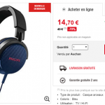 Casque audio Philips SHL3100BL à 14.70 € au lieu de 49 € (-70%)